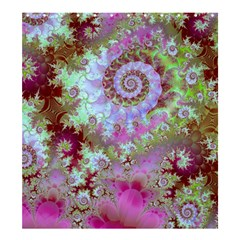 Raspberry Lime Delight, Abstract Ferris Wheel Shower Curtain 66  x 72  (Large)