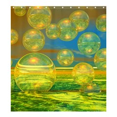 Golden Days, Abstract Yellow Azure Tranquility Shower Curtain 66  x 72  (Large)
