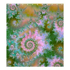Rose Forest Green, Abstract Swirl Dance Shower Curtain 66  X 72  (large)