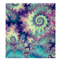 Violet Teal Sea Shells, Abstract Underwater Forest  Shower Curtain 66  X 72  (large)