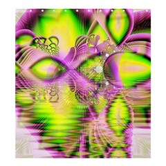Raspberry Lime Mystical Magical Lake, Abstract  Shower Curtain 66  X 72  (large)
