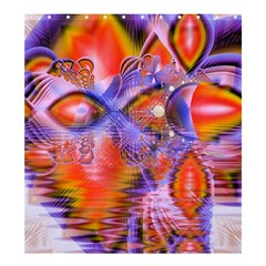 Crystal Star Dance, Abstract Purple Orange Shower Curtain 66  x 72  (Large)
