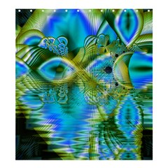 Mystical Spring, Abstract Crystal Renewal Shower Curtain 66  X 72  (large)