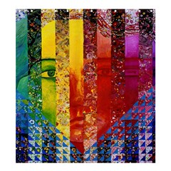 Conundrum I, Abstract Rainbow Woman Goddess  Shower Curtain 66  x 72  (Large)