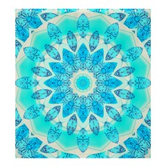 Blue Ice Goddess, Abstract Crystals of Love Shower Curtain 66  x 72  (Large)