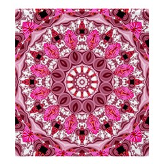 Twirling Pink, Abstract Candy Lace Jewels Mandala  Shower Curtain 66  x 72  (Large)