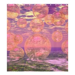 Glorious Skies, Abstract Pink and Yellow Dream Shower Curtain 66  x 72  (Large)