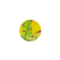 Whimsical Tulips 1  Mini Button Magnet