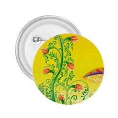 Whimsical Tulips 2.25  Button