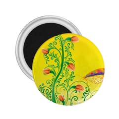 Whimsical Tulips 2.25  Button Magnet