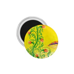 Whimsical Tulips 1 75  Button Magnet
