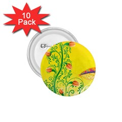 Whimsical Tulips 1.75  Button (10 pack)