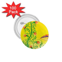 Whimsical Tulips 1.75  Button (100 pack)