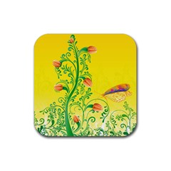 Whimsical Tulips Drink Coaster (square)