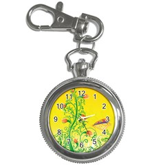 Whimsical Tulips Key Chain Watch