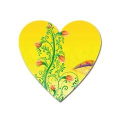 Whimsical Tulips Magnet (Heart)