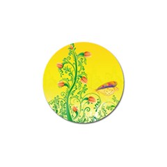 Whimsical Tulips Golf Ball Marker