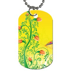 Whimsical Tulips Dog Tag (Two-sided)