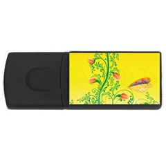 Whimsical Tulips 1GB USB Flash Drive (Rectangle)