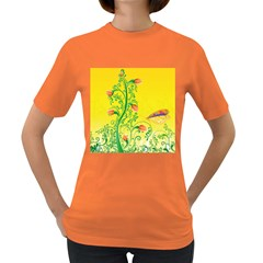 Whimsical Tulips Women s T-shirt (Colored)
