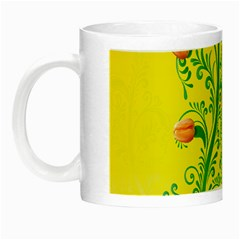 Whimsical Tulips Glow in the Dark Mug