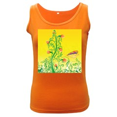 Whimsical Tulips Women s Tank Top (Dark Colored)