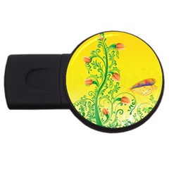 Whimsical Tulips 4gb Usb Flash Drive (round)