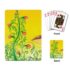 Whimsical Tulips Playing Cards Single Design