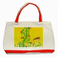 Whimsical Tulips Classic Tote Bag (red)