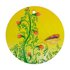 Whimsical Tulips Round Ornament (Two Sides)