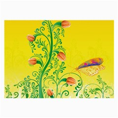 Whimsical Tulips Glasses Cloth (large)