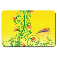 Whimsical Tulips Large Door Mat