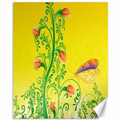 Whimsical Tulips Canvas 11  X 14  (unframed)