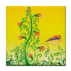 Whimsical Tulips Face Towel
