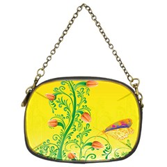 Whimsical Tulips Chain Purse (Two Sided)