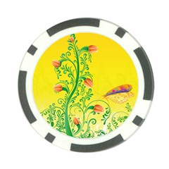 Whimsical Tulips Poker Chip (10 Pack)