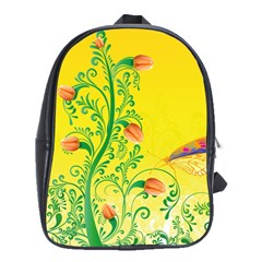 Whimsical Tulips School Bag (large)
