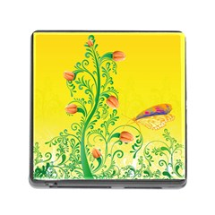 Whimsical Tulips Memory Card Reader with Storage (Square)