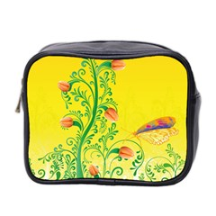 Whimsical Tulips Mini Travel Toiletry Bag (Two Sides)