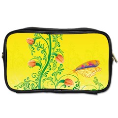 Whimsical Tulips Travel Toiletry Bag (one Side)