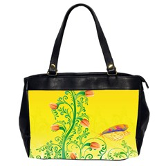 Whimsical Tulips Oversize Office Handbag (Two Sides)