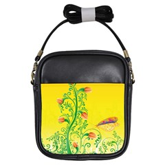 Whimsical Tulips Girl s Sling Bag