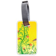 Whimsical Tulips Luggage Tag (One Side)