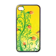 Whimsical Tulips Apple Iphone 4 Case (black)