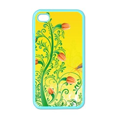 Whimsical Tulips Apple Iphone 4 Case (color)