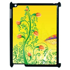 Whimsical Tulips Apple iPad 2 Case (Black)