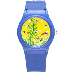 Whimsical Tulips Plastic Sport Watch (Small)