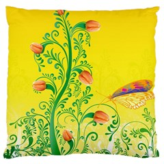 Whimsical Tulips Large Cushion Case (Two Sided)