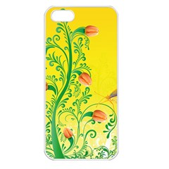 Whimsical Tulips Apple Iphone 5 Seamless Case (white)