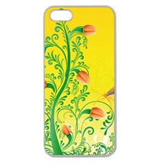 Whimsical Tulips Apple Seamless Iphone 5 Case (clear)